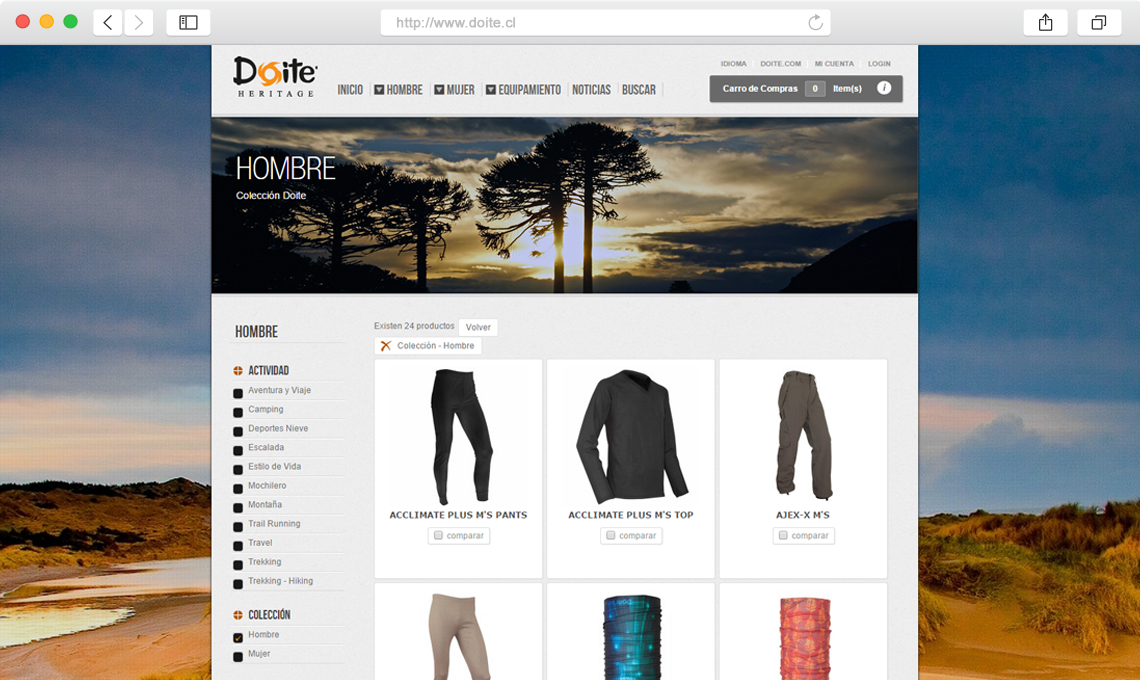 Doite / Diseño web e-commerce